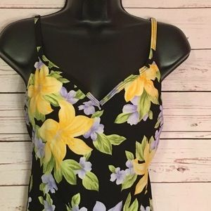 Liz Claiborne 12 Vintage  Tropical 1 Piece swim